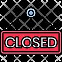 Iclosed Close Board Close Shop Icon