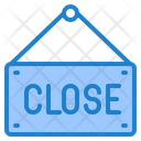 Close Shopping Label Icon