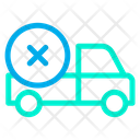 Pickup Truck Shipping And Delivery Transport Icon