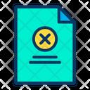 Close Document Icon