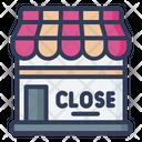 Close Shop Close Board Close Label Icon