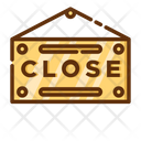 Closed Sign Board Sign Board Board Icon