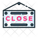 Close Sign Colse Signboard Close Hanger Board Icon