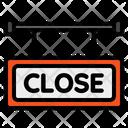 Close Signboard Close Sign Icon