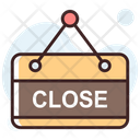 Close Store Close Signboard Hanging Sign Icon