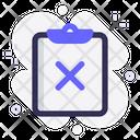 Task Delete Clipboard Icon