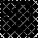 Close Window Curtain Icon