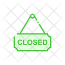 Closed Closed Sign Board Sign Board Icon