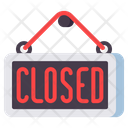 Mclosed Closed Closed Signboard Icon