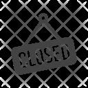 Closed Board Tag Icon