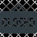 Closed Board Sign Icon