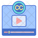 Closed Caption Closed Captioning Video License Icon