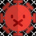 Closed Mouth Coronavirus Emoji Coronavirus Icon