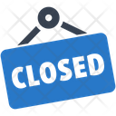 Closed Sign Shopping Icon