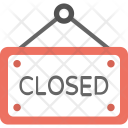 Closed Hanging Sign Icon