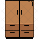 Closet Drawers Furniture Icon