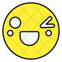 Closing One Eye Face Emoticon Smiley Icon
