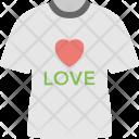 Shopping Love T Shirt Icon