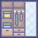 Cloth Almirah Cloth Cabinet Drawer Icon