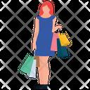 Cloth Shopping Shopping Girl Leisure Time Icon