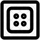 Clothes Button Square Icon