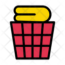 Basket Clothes Folded Icon