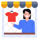 Shirts Shop Shopkeeper Storekeeper Icon