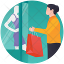 Clothes Shopping Buy Clothes Dress Display Icon