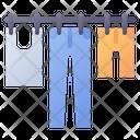 Clothesline Dry Laundry Icon