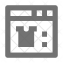 Clothing Website Online Icon