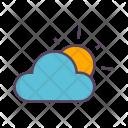 Cloud Clouds Sun Icon