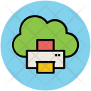 Cloud Network Facsimile Icon