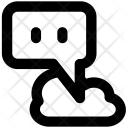 Cloud Network Chat Icon