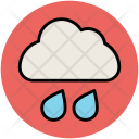 Cloud Rain Drops Icon