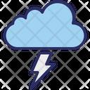 Cloud Lightning Rain Storm Icon