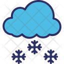 Cloud Ice Flakes Snow Falling Icon