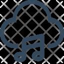 Cloud Media Music Icon