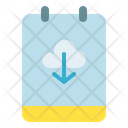 Note Cloud Download Icon