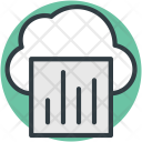 Cloud Infographic Library Icon