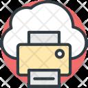 Cloud Printing Online Icon