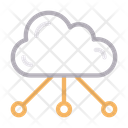 Cloud Network Computing Icon