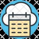Cloud Calendar Online Icon