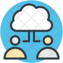 Cloud Computing Connecting Icon