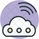 Cloud Wifi Signals Icon
