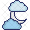 Cloud Crescent Moon Icon