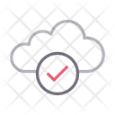 Cloud Database Check Icon