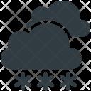 Cloud Snow Fall Icon
