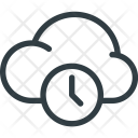 Cloud Time Timeout Icon