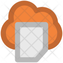 Cloud Document Network Icon