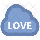 Cloud Word Love Icon